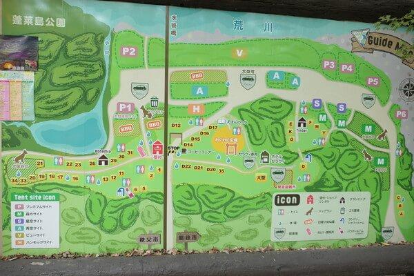 長瀞AC場場内MAP