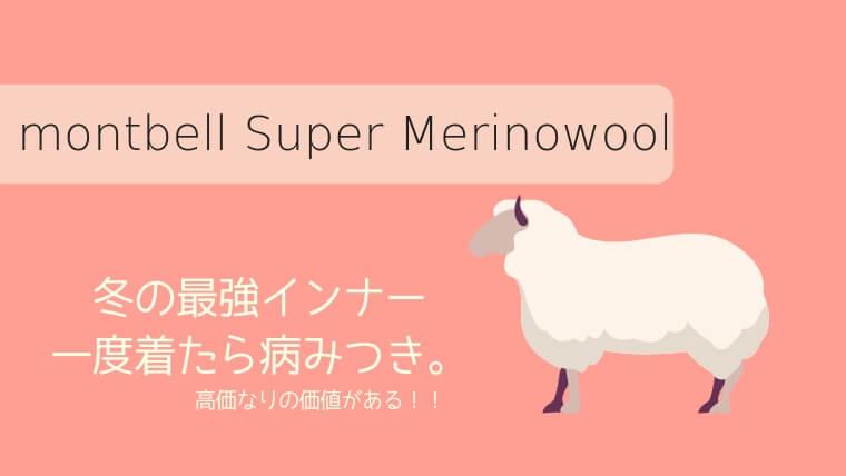 【冬の最強インナー!】モンベルスーパーメリノウールは暖かすぎる絶対に持つべき1枚