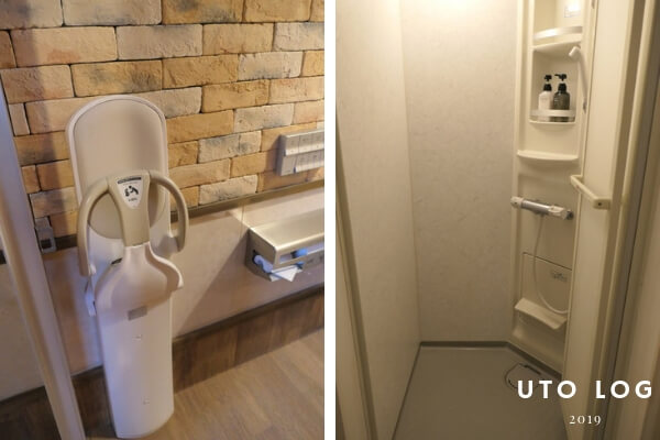 PICAさがみ湖セットアップテントサイトシャワー室