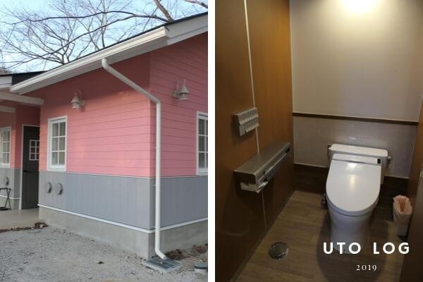 PICAさがみ湖セットアップテント付近トイレ