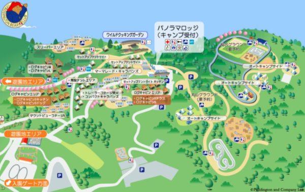 PICAさがみ湖場内MAP