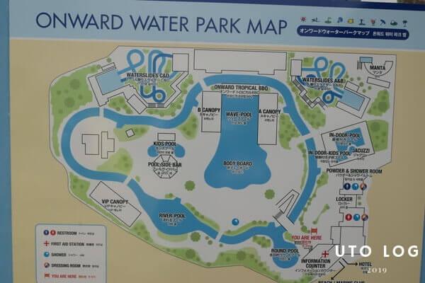 オンワードウォーターパーク場内MAP